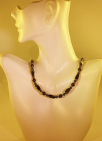 Deep Brown Gold Pearl Necklace (Ladies)