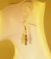 Silver w_4mm Gold Earrings (Ladies)