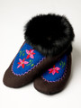 Taluq Design Slippers with Rabbit Fur Trim