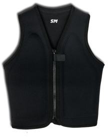 Dolphin Wetsuits Flo-Mo Flat Front Version Front View - Black