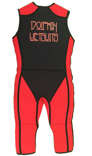 Back view of a Black and Red Arc Show suit.
