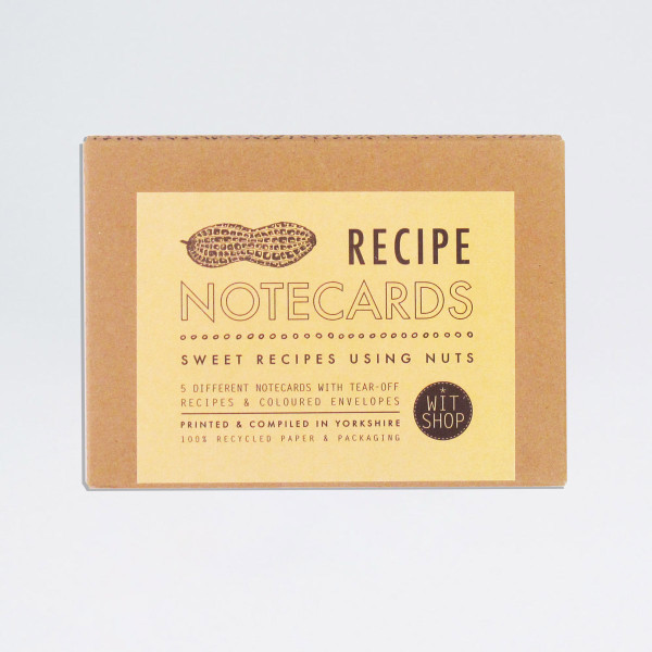 Nut recipe cards from Wit Shop at Of Cabbages and Kings.