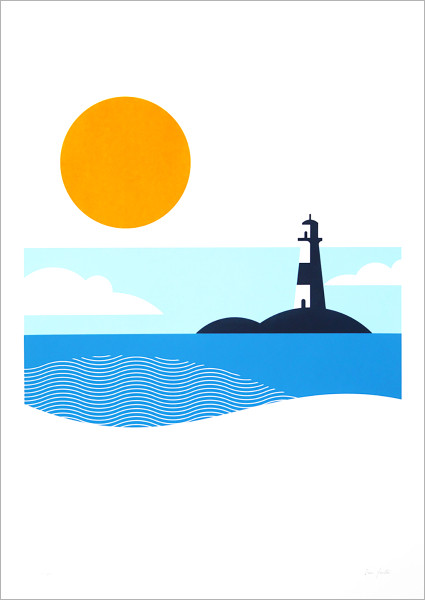 Lighthouse screen print by The Lost Fox at Of Cabbages and Kings