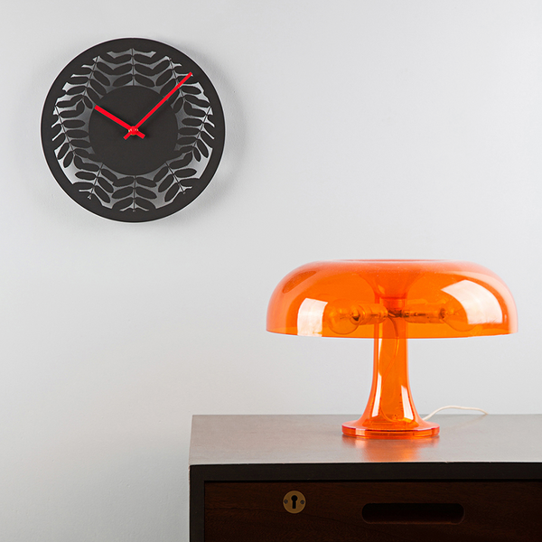 Charcoal Rowan Clock by Max Cairns at Of Cabbages and Kings.