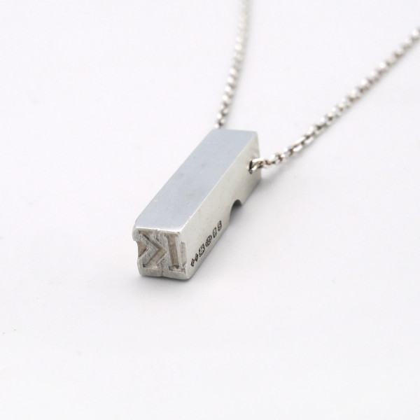 Letterpress K pendant from Roderick Vere at Of Cabbages and Kings