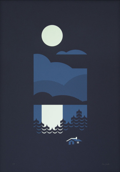 Cabin screen print by The Lost Fox at Of Cabbages and Kings