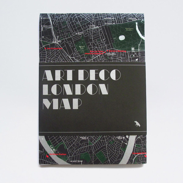 Art Deco London Map by Blue Crow Media at Of Cabbages and Kings.