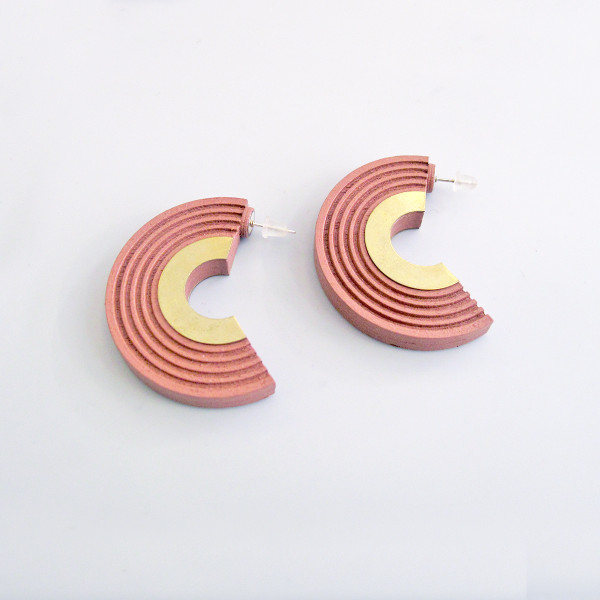 Curve Hoops pink by Wolf and Moon at Of Cabbages and Kings