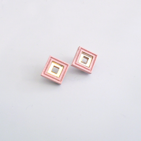 Diamond Studs pink by Wolf and Moon at Of Cabbages and Kings