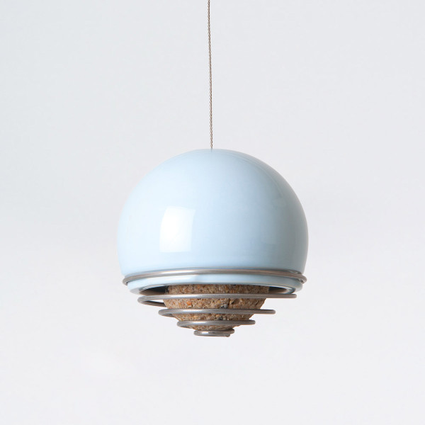 Birdball Belle Blue Suet Ball Feeder by Green&Blue at Of Cabbages and Kings.