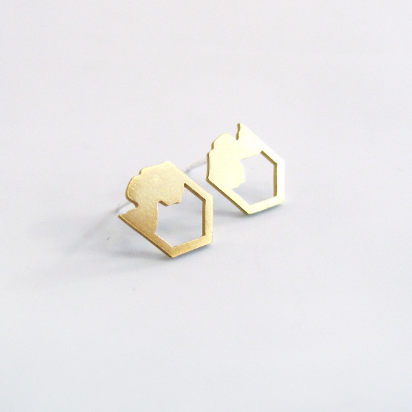 Pyren Brass Earrings by Promises Promises at Of Cabbages and Kings