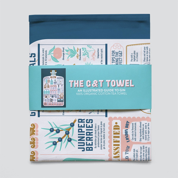 The Gin and Tonic Tea Towel by Stuart Gardiner at Of Cabbages and Kings