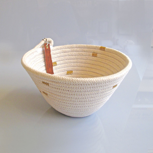Medium Striped Basket by Harr East at of cabbages and kings