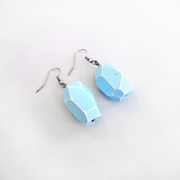 Blue Dangle Earrings by Grey Jay at Of Cabbages and Kings