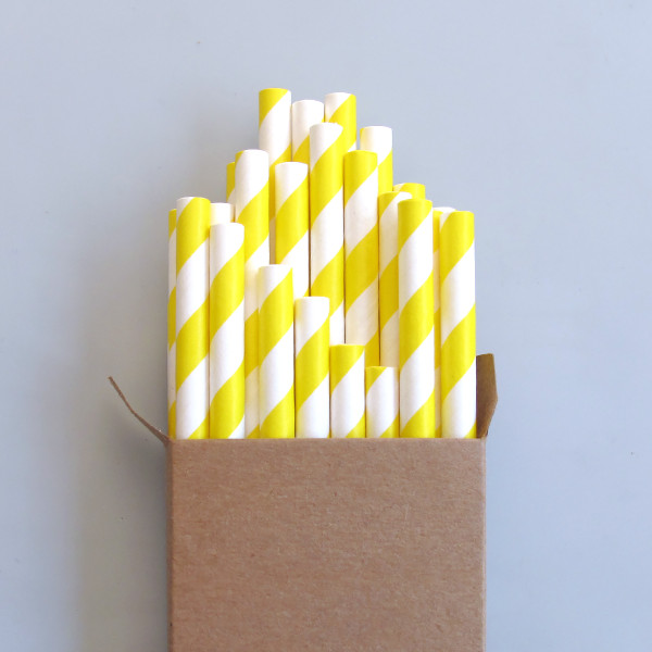 Striped Biodegradable Paper Straws by Paper Straw People at of cabbages and kings