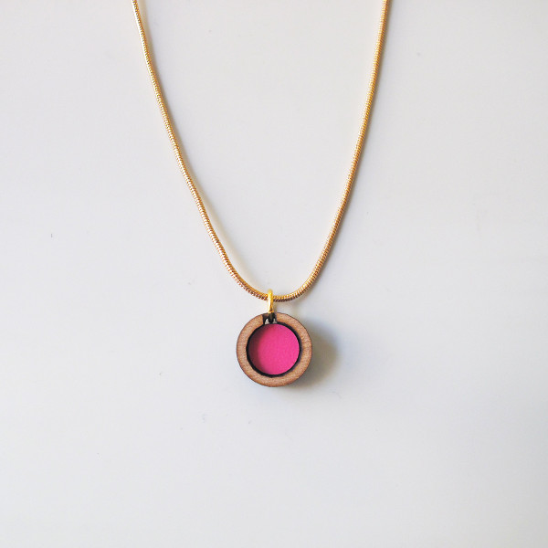 Circle Necklace in Blush by Chalk at Of Cabbages and Kings