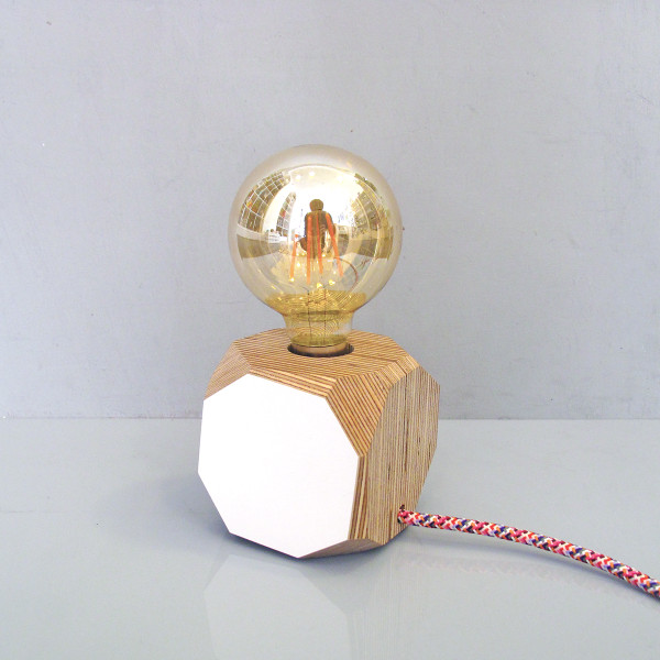 Wooden Geo Filament Table Lamp by Priormade at of cabbages and kings