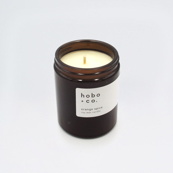 Orange Spice Scented Soy Wax Candle by Hobo at Of Cabbages and Kings
