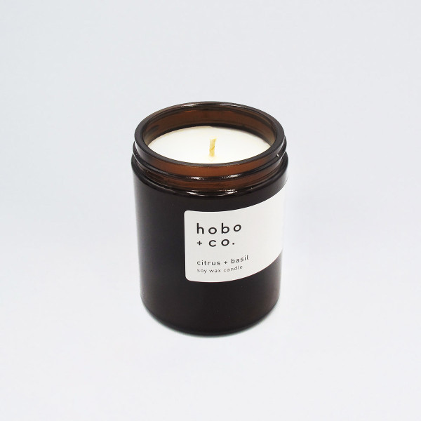 Citrus + Basil Scented Soy Wax Candle at Of Cabbages and Kings