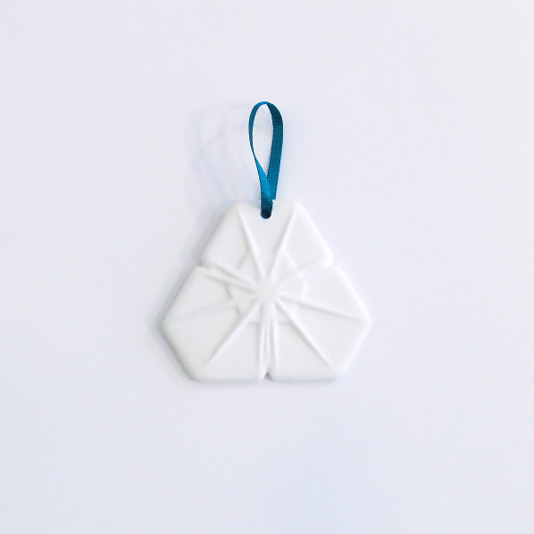 Small Bone China Snowflake Christmas Decoration - Triangle by Reiko Kaneko at of cabbages and kings