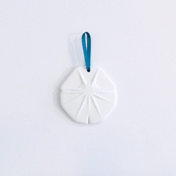 Small Bone China Snowflake Christmas Decoration - Round by Reiko Kaneko at of cabbages and kings