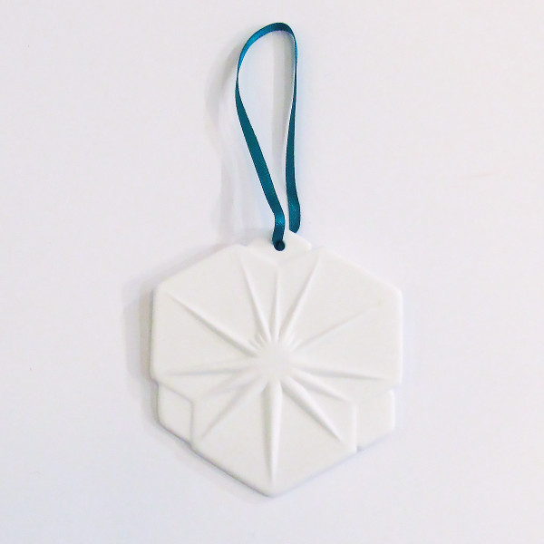 Large Bone China Snowflake Christmas Decoration - Hexagon by Reiko Kaneko at of cabbages and kings