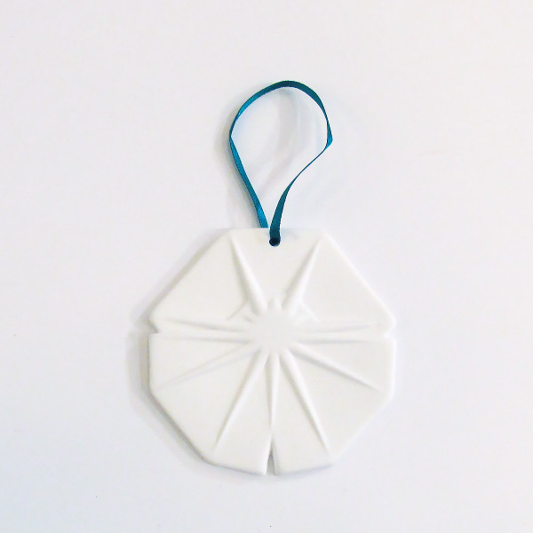 Large Bone China Snowflake Christmas Decoration - Octogan by Reiko Kaneko at of cabbages and kings