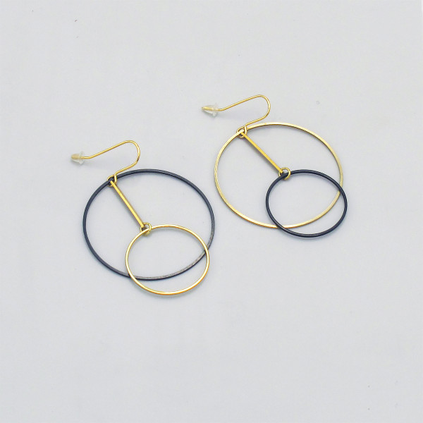 Deco Circles Earrings by Brass & Bold at of cabbages and kings