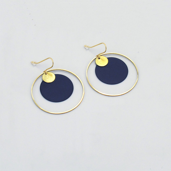 Deco Circle + Discs Earrings by Brass & Bold at of cabbages and kings