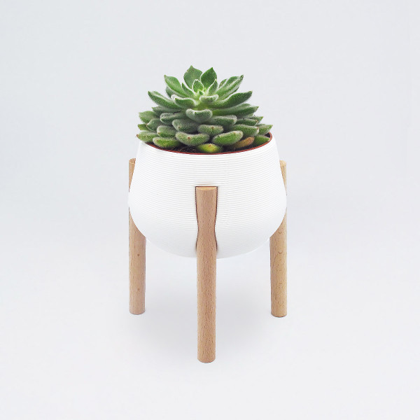 Tall White Legged Planter by Studio Nilli at Of Cabbages and Kings