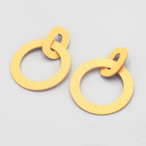 Orla II Earrings yellow from Wolf & Moon at Of Cabbages and Kings