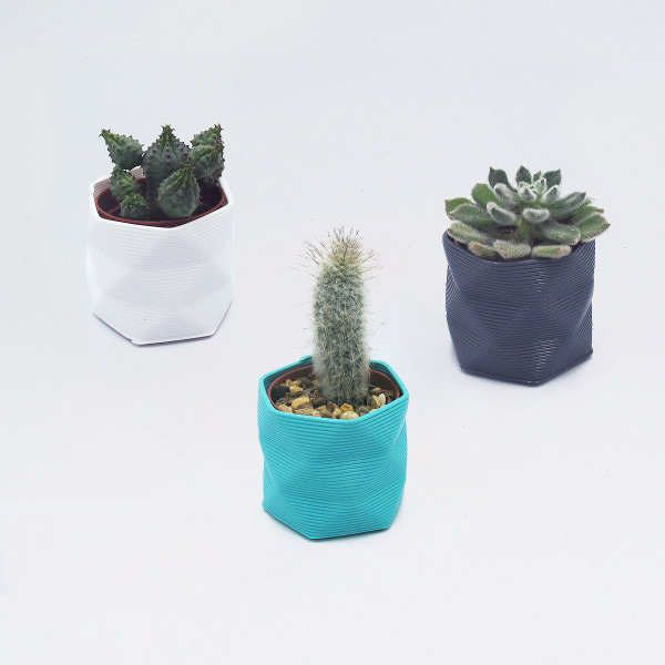 Small 3D Printed Geometric Planter by Studio Nilli at of cabbages and kings