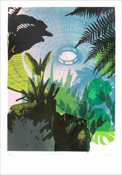 Glasgow Botanical Gardens screen print by Caitlin Parks at Of Cabbages and Kings
