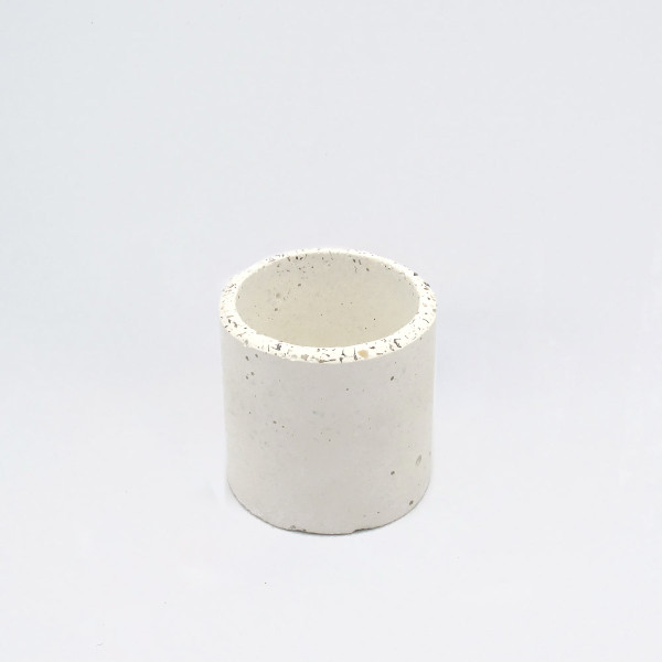 Small White Speckled Concrete Planter