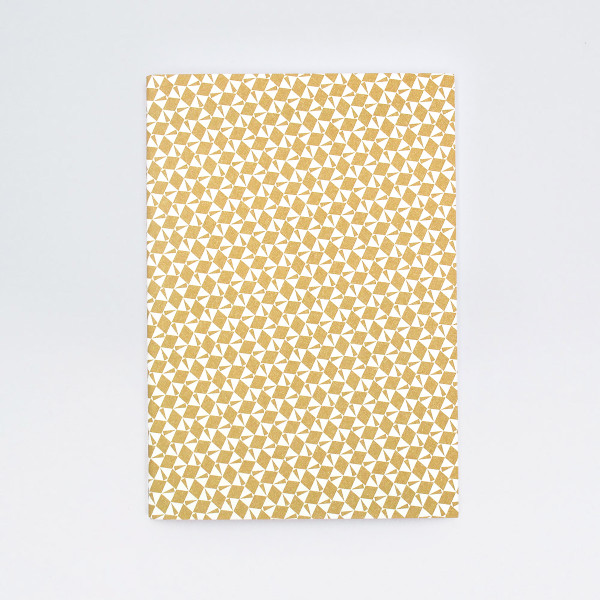A5 Plain Layflat Notebook - Victor Print, Gold by Ola at Of Cabbages & Kings