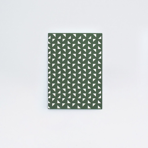 A6 Plain Layflat Notebook - Massi Print, Forest Green  by Ola at Of Cabbages and Kings