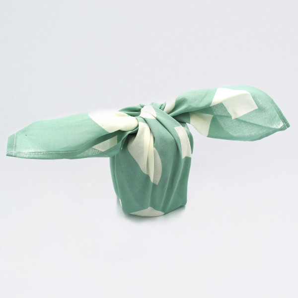 Organic Cotton Wrap - Shapes, Turquoise wrapped up by Ola at Of Cabbages and Kings