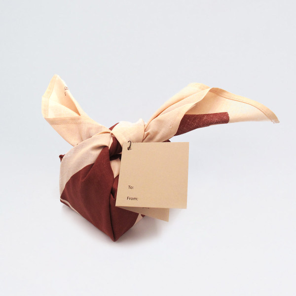 Organic Cotton Wrap - Blocks, Salmon wrapped up by Ola at Of Cabbages and Kings
