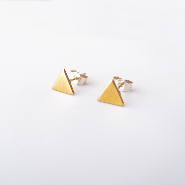 Tiny Triangle Studs model by Custom Made at Of Cabbages and Kings