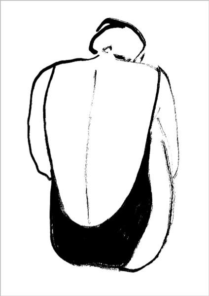 Arched Woman print by Emma Unwin at Of Cabbages & Kings
