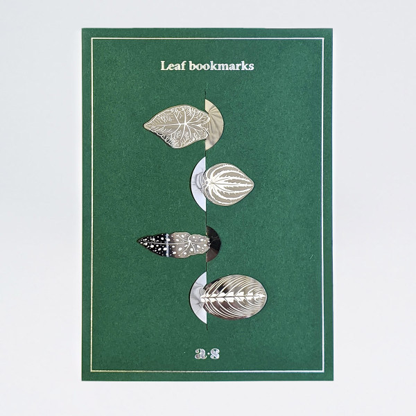 Leaf Bookmark Set - Steel by Another Studio at Of Cabbages and Kings