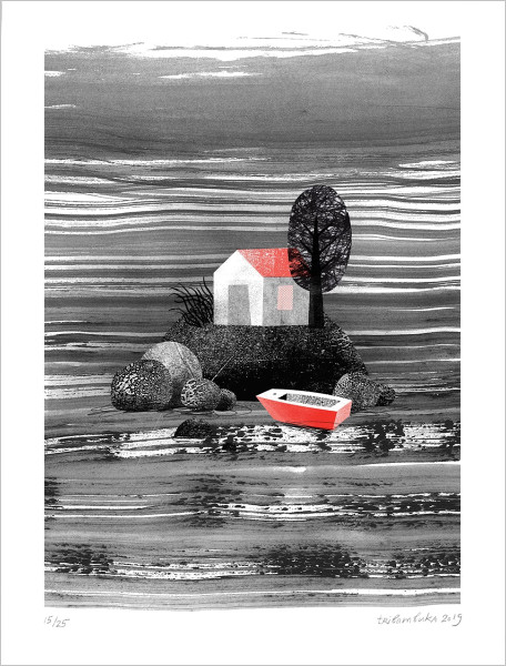 Finding Home risograph print by Anastasia Beltyukova at Of Cabbages and Kings