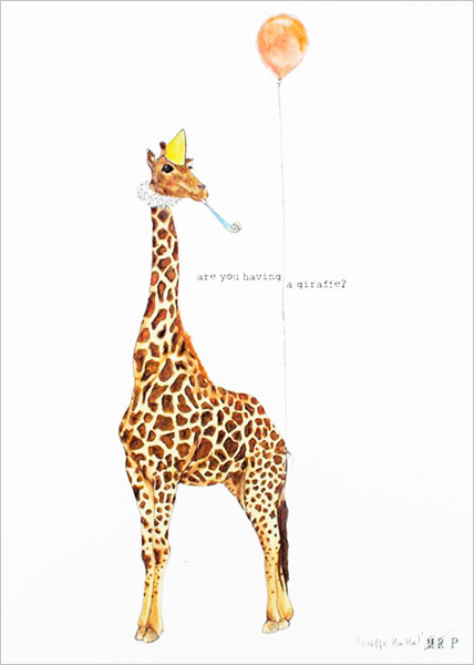Are You Having a Giraffe print by Mister Peebles at Of Cabbages and Kings.