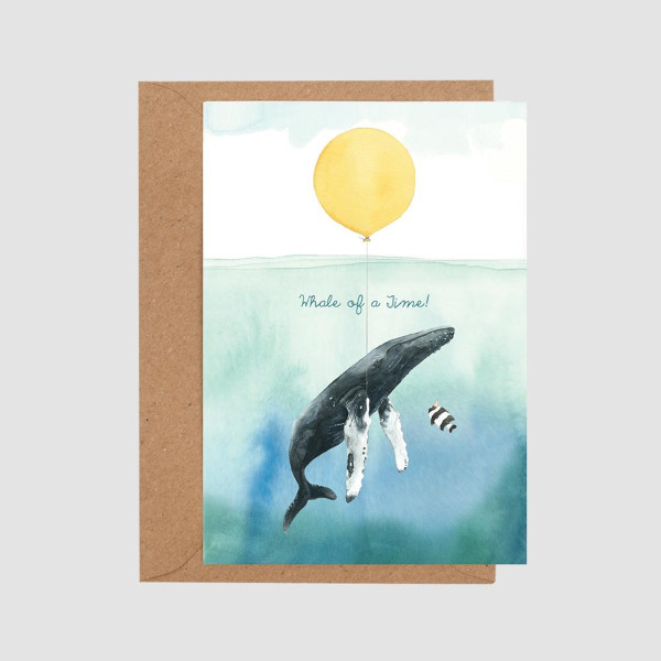 Whale of a Time Card by Mister Peebles at Of Cabbages and Kings