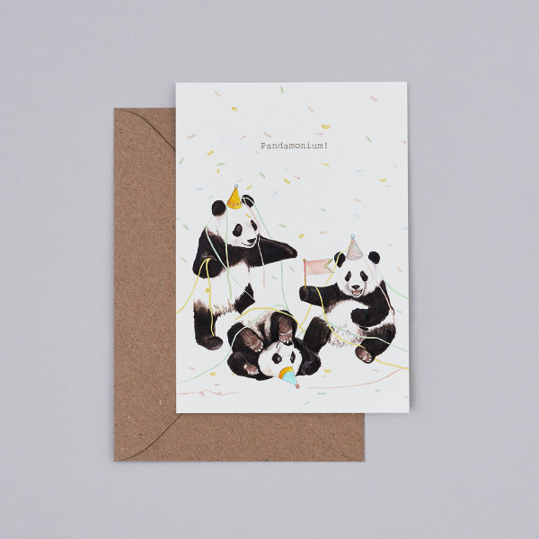 Pandamonium Card detail by Mister Peebles at Of Cabbages and Kings