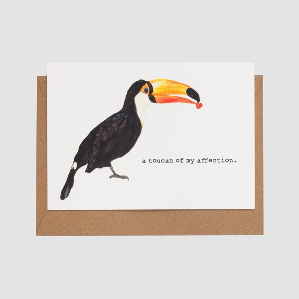 Toucan of my Affection Card by Mister Peebles at Of Cabbages and Kings