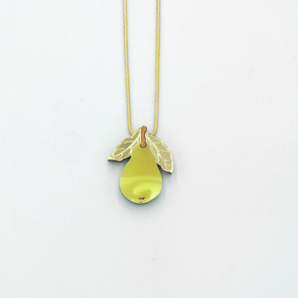 Mini Pear Necklace by Wolf and Moon at Of Cabbages and Kings