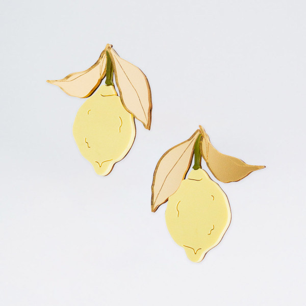 Lemon Earrings by Wolf and Moon at Of Cabbages and Kings