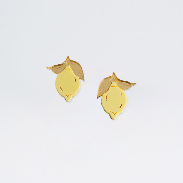 Mini Lemon Studs by Wolf and Moon at Of Cabbages and Kings