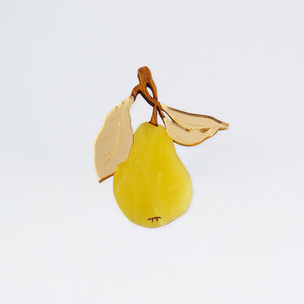 Pear Brooch by Wolf and Moon at Of Cabbages and Kings